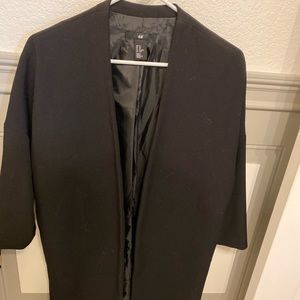 H&M boxy long black coat